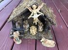 Vintage Fontanini Roman Nativity Manger Creche with Figures  Animals