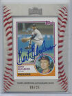2012 TOPPS ARCHIVES 1983 MINI AUTOGRAPH BERT BLYLEVEN, #280, 08 25, HALL OF FAME