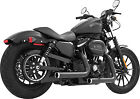Freedom Exhaust System Staggered Duals Black Chrome Harley Davidson HD00383