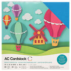 American Crafts 12 x 12 Brights Design Textured Cardstock Pack 60 Sheets