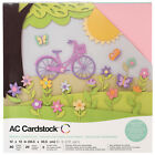 American Crafts 12 x 12 Spring Design Textured Cardstock Pack 60 Sheets