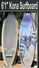 surfboard Long Wakeboard Missing Fins Kona Brand 61 in San Diego surf board