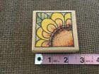 Whipper Snapper Designs SUNFLOWER rubber mounted wooden stamp