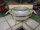 VINTAGE FIRE-KING 1 1/2 QT OVAL CASSEROLE + COVER WITH CANDLE WARMER-NIB