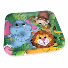 8pc Zoo Animal 9 inch Square Paper Party Plates