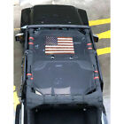 1x Sun Shade Soft Top Mesh Cover UV Protection For 07 18 Jeep Wrangler JK 4 Door