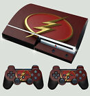 Playstation PS3 alt Form Flash Logo 01 Superheld Skin & 2 Polster Folien