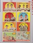 325 1959 TOPPS LOT all diff VGEX EX EX+ just wear at corners no body creases