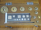 Antique set of brass scale weights in wooden case