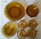 amber brown dish set of 16, plates, bowls, cups