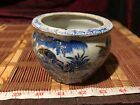 Birds Porcelain Asian Vase/Planter 3 7/8