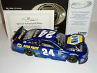 2016 Chase Elliott 24 NAPA 1 24 Elite Diecast Yellow Rookie Stripes Autographed