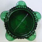 Vintage Anchor Hocking Forest Green Fire King Queen Anne Serises Star Ashtray