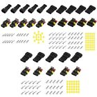15 Sets Waterproof Electrical Wire Connector 2 3 4 Pins Way Mototcycle Car Auto