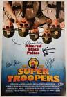 SUPER TROOPERS 2 Cast (5) Signed 12x18 Movie Poster Photo (C) Beckett BAS COA