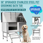 50 Dog Pet Grooming Bath Tub with Faucet Walk In Ramp Animal  Professional
