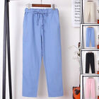 New Women Vintage Cotton Linen Wide Leg Loose Harem Trousers Long Pants Leggings