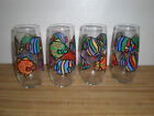LOT OF 4 LIBBEY GLASS FISH TROPICAL LONG JOHN SILVER'S ROCKET TUMBLERS - NEW