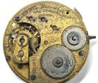 Riverside Waltham 1872s Pocket Watch Movement 15j 16s Parts/Repairs #P229