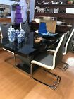 ex display dining table and chairs black glass table and chairs