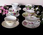 Vintage Mismatched China Teacup Saucer Sets Wedding Showers Tea Party Florals