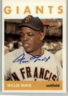 WILLIE MAYS 1997 TOPPS COMMEMORATIVE AUTO AUTOGRAPH SAN FRANCISCO GIANTS A #18
