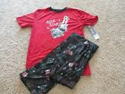 BOYS XL 16 18 CHEROKEE RED ROCK STAR GUIAR PAJAMA SET PANTS & TOP NWT