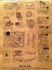 Just for Fun Travel UMS7009 Set of 19 Rubber Stamps