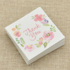 THANK YOU Flower Paper Card Message Rewards Invitation Card Wedding Party 50 Pcs