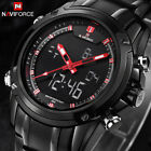 Top Men Watches Luxury Brand Naviforce Mens Quartz Hour Analog LED Sports W