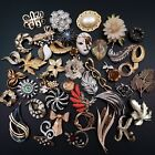 Vintage Jewelry Lot Over 40 Brooches Pins Some Signed Estate Figural Jewelry