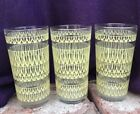 Vintage Mid-Century Glassware Whimsical Yellow Scallop Pattern (Set of 3)