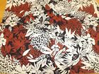 Vintage animal print foliage cotton Springs Industries 35 yards 45 W quilt sew
