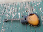 Vintage 1960's Harmony Stratotone Guitar Project Body & Neck Silvertone