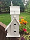 Antique Primitive Shabby Chic French Country Home Decor BIRDHOUSE Steeple 16T9