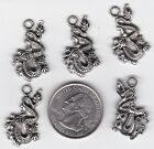 YOU GET 20 METAL SILVER TONE DRAGON CHARMS FROM JUNKMANRALF US SELLER A 1