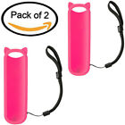 Pack Of 2 Pink Silicone Protective Soft Case For RC280 TCL ROKU TV Remote