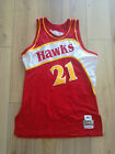 Dominique Wilkins Mitchell and Ness Hawks Authentic Jersey 48 made in USA