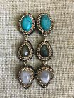 Native Gem Barbados Earrings Turquoise Pearl One Size