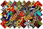 40 4 Fabric Squares African 20 Patterns Quilting Patchwork