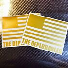 The Deplorables 7 Car Decals Stickers Metallic Gold 2 Pack Deal