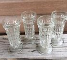 Small Glass Soda Sundae Glasses Dishes Tall Footed Set Of 4