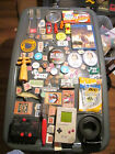 Junk Drawer Lot estate sale old coins buttons pins stamps GAME BOY pokemon cards