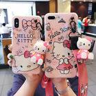 Cute Bow Hello kitty Doll strap soft case Cover for iPhone X XS Max 8 7 6S Plus