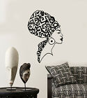 Vinyl Wall Decal Beautiful African Native Woman Face Girl Turban Stickers 2792ig