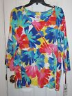 New With Tags Ruby Red Multi Colored Knit Womans Top Size 2X