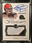 2014 Panini Flawless Johnny Manziel Multi Color RC Jersey Patch Auto, #14 25