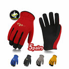 Vgo 5 Pairs Artificial Leather Work Gloves Construction Garden Glovesal8736