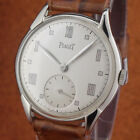 Excellent Vintage PIAGET -Size 35mmØ-Silver Dial Mirror Roman Numerals-from 1950
