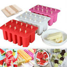 10 Cells Frozen Ice Cream Pop Mold Popsicle Maker Lolly Mould Tray w 20 Stick -